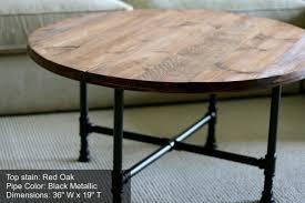 Rustic Wood Furniture Diy Rustic Round Coffee Table