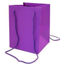 gift bag purple large 19x25cm wholesale flowers