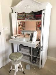 sewing armoire diy sewing cabinet extraordinaire remodelicious