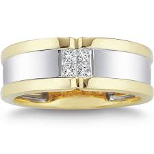 Costco Wedding Rings by Two Tone Gold U0026 Platinum Bands Costco