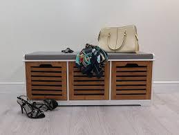 aspect 98 x 44 5 x 50 cm bamboo kendal wooden 2 seater bathroom