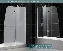aqua bathtub door dreamline frameless tub door glass