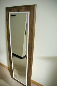 Bathroom Mirror Frame by Diy Floor Mirror Frame