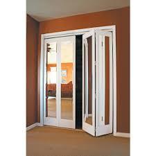 Closet Door With Mirror Beveled Mirror Bifold Closet Doors