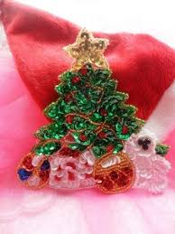 sequin appliques holiday christmas