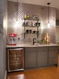 decor u0026 tips stainless steel backsplash and floating shelves with