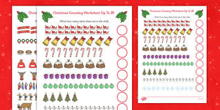 counting at christmas worksheet up to 20 counting christmas