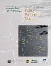 generic mentoring program policy and procedure manual