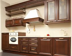 Retro Wooden Kitchen Hanging Cabinet Stock Photo  Interiors - Kitchen hanging cabinet