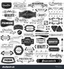 vintage design vintage design elements set labels retro stock vector 138333584