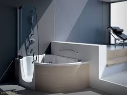 Corner Bathroom Showers Modern Corner Bathtub With Shower Combo From Teuco Home Trends