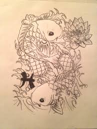 sketch tattoo koi fish discovered by guyli on we heart it