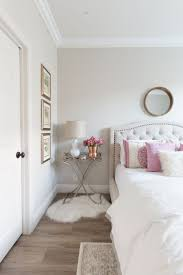 white and pink bedroom inspiration white walls white bedding