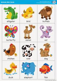free printable animal flash cards pictureicon