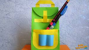 Ideas For Hanging Backpacks How To Make Backpack Paper Bag Youtube