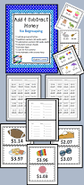 add or subtract money activities centers and worksheets without