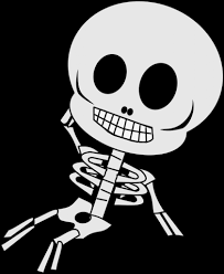 top halloween animated clipart skeleton images for