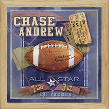 Sports Themed Wall Decor - football sports nursery art personalized gifts unique boys