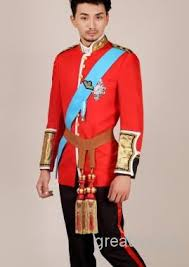 Prince Charming Costume Prince William Red Royal Mens Period Costume Medieval Stage