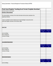 Fixed Asset Register Excel Template 214 Tracking Templates Free Sle Exle Format