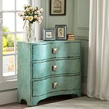 Bombay Chest Nightstand Amazon Com Fulton Crackle Bombe Chest Blue See Below Kitchen