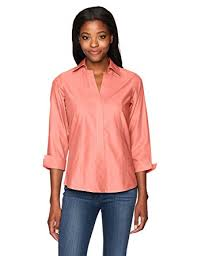 womens no iron blouses foxcroft s essential non iron blouse at amazon