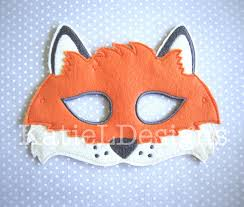 halloween fox ith fox mask machine embroidery design pattern download 5x7