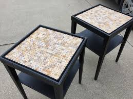 End Table Ls I Did My Scrabble Tile Table Several Years Ago When I