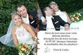 modele remerciement mariage cartes remerciements mariage anais mariage