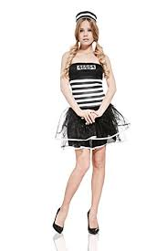 Convict Halloween Costumes Dreamgirl Women U0027s Jailbird Crop Convict Prisoner Diy Costume