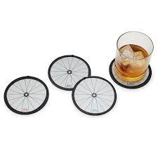 bike wheel coasters set of 4 bicycle drink coasters