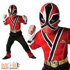 Power Rangers Samurai Halloween Costumes Deluxe Muscle Red Power Ranger Samurai Fancy Dress Boys Kid