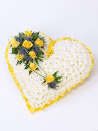 heart wreath yellow heart wreath the petal florists