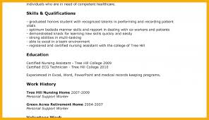 sample resume for cna 4 cna resume example cover letter sample