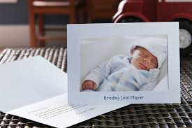 make custom birth announcements with photo insert cards from