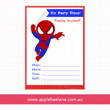 colors classic free spiderman birthday invitations templates