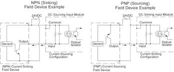 how to connect 3 wire sinking and sourcing devices to plc input