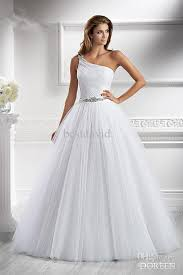 one shoulder wedding dress cheap 2013 one shoulder a line wedding dress doreen beaded tulle