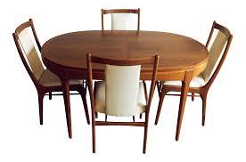 lane rhythm mid century modern dining set set of 5 chairish