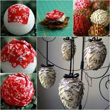 Quilted Christmas Ornaments To Make - wonderful diy lifetime fabric pine cone ornaments