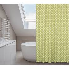 manhattan chartreuse green shower curtain rings liner set