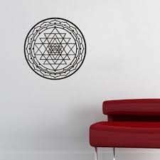 Wall Decals Mandala Ornament Indian by Aliexpress Com Buy Art Mural Sri Yantra Vinyl Wall Stickers