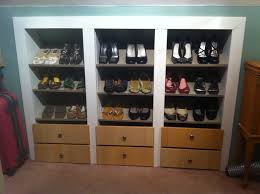 trendy ikea shoes rack design idea made of wooden material