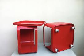 castelli ufficio carrello da ufficio in plastica abs rossa di castelli per