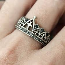 mens crown rings images Drop ship new cross crown ring with crystal stones women mens 316l jpg