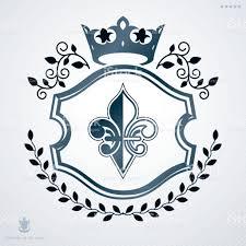 vintage heraldry design template vector emblem created with laurel