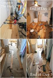 diy wood floor installation