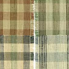 Brown Tartan Rug Primitive Country Cotton Woven Rugs From India Home Fashions