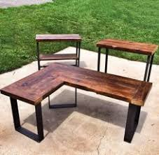 Wood L Shaped Desk Reclaimed Wood L Shaped Desk In Rockville Md Usa If Only I