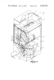 patent us4546554 clothes dryer having variable position motor